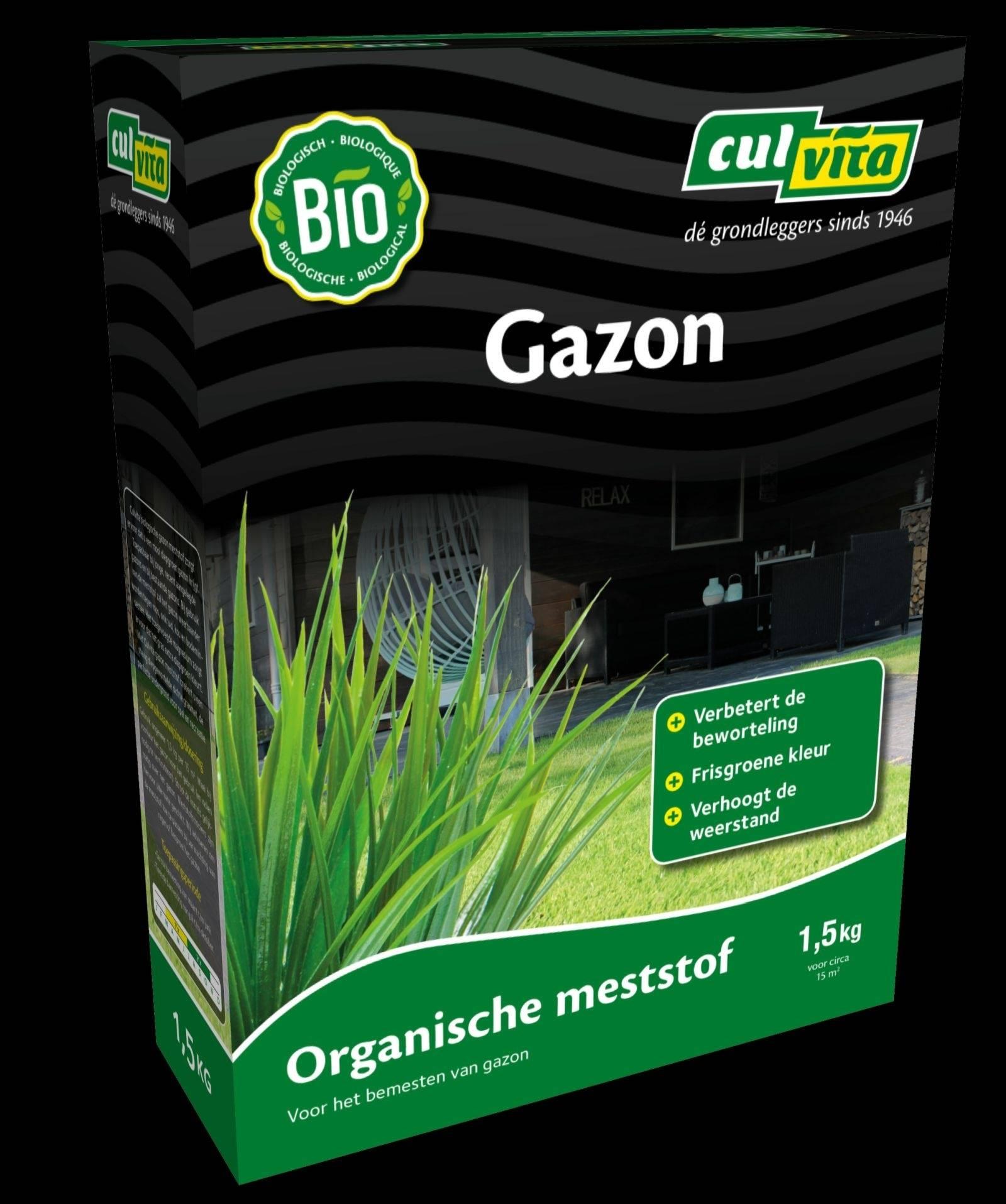 Organische gazon meststoftoepassing culvita biologische gazon meststof zorgt ervoor dat u een mooi diepgroen ...